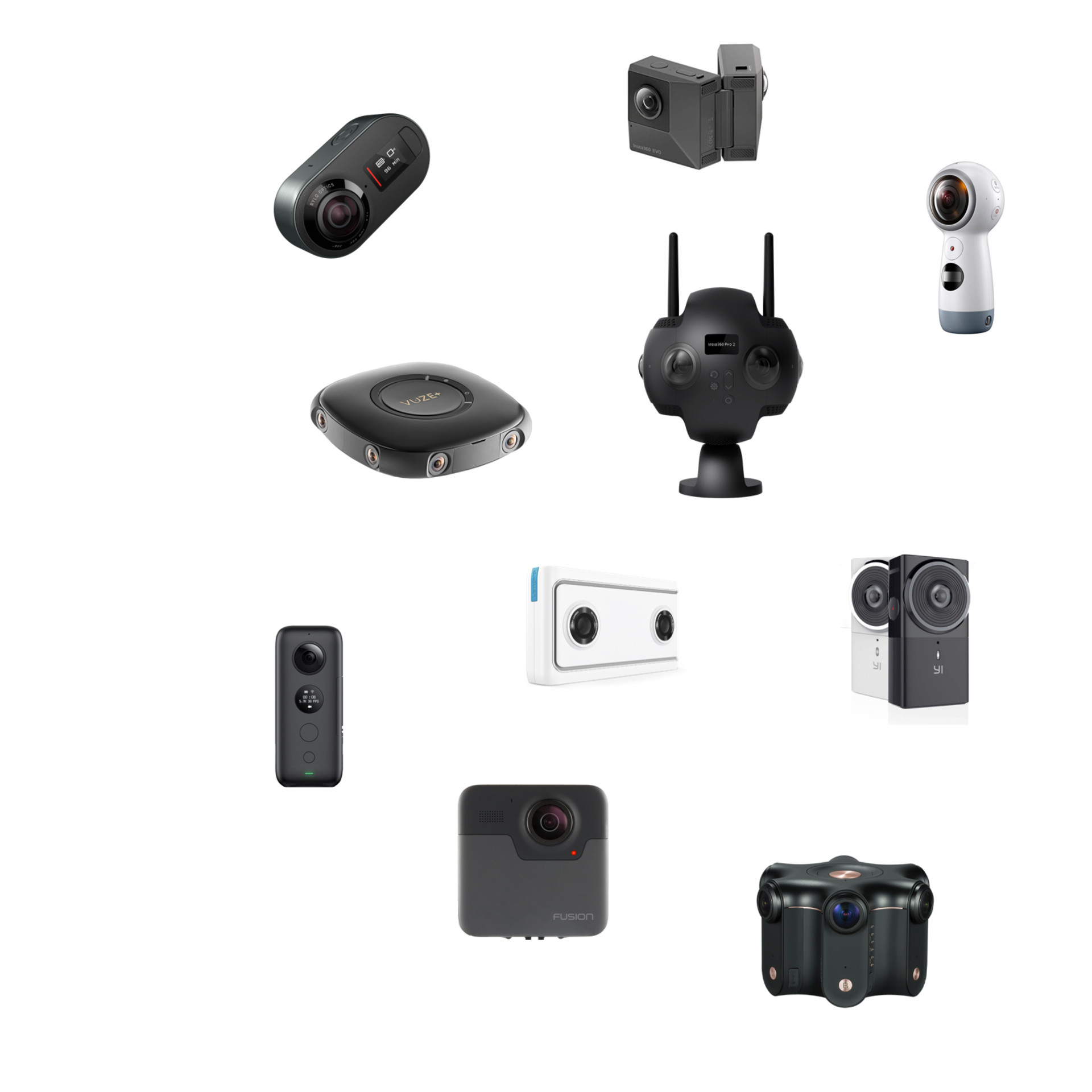 Most VR Cameras supported